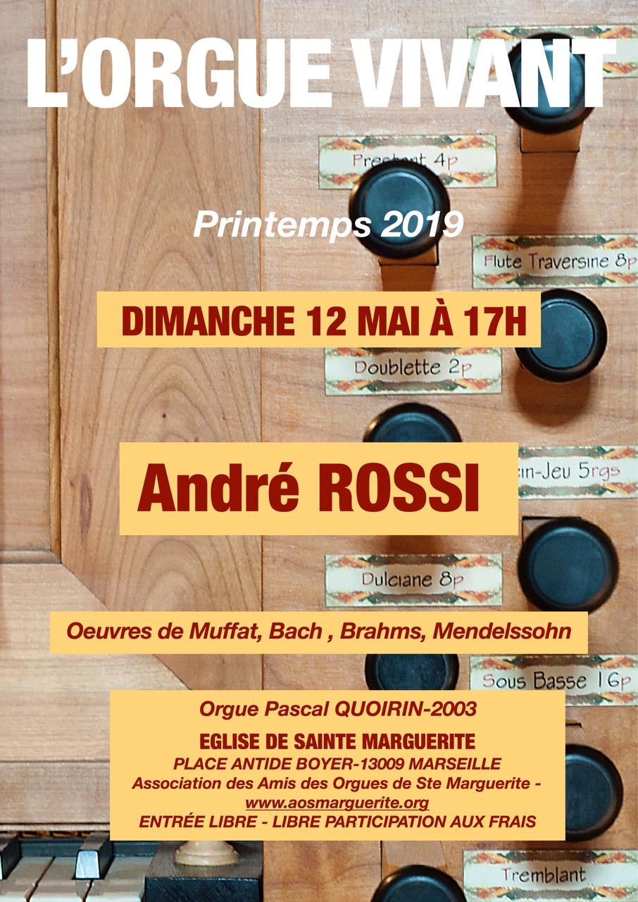 Récital d'orgue ANDRE ROSSI